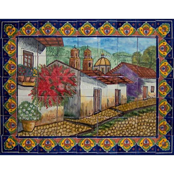 Mexican Talavera Mural Pueblo2