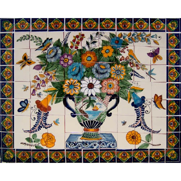 Ceramic Frost Proof Mural Flores 1