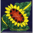 Ceramic Frost Proof Tiles Sunflower 12