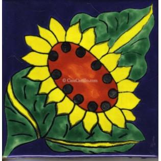 Ceramic Frost Proof Tiles Sunflower 12