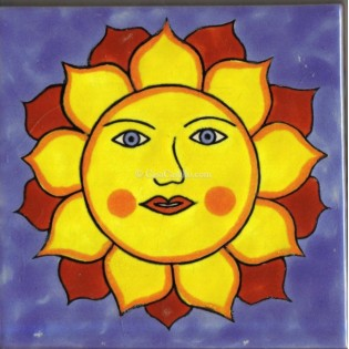 Mexican Talavera Tiles Sun 1