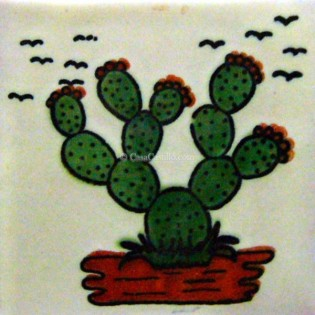 Ceramic Frost Proof Tiles Cactus 2