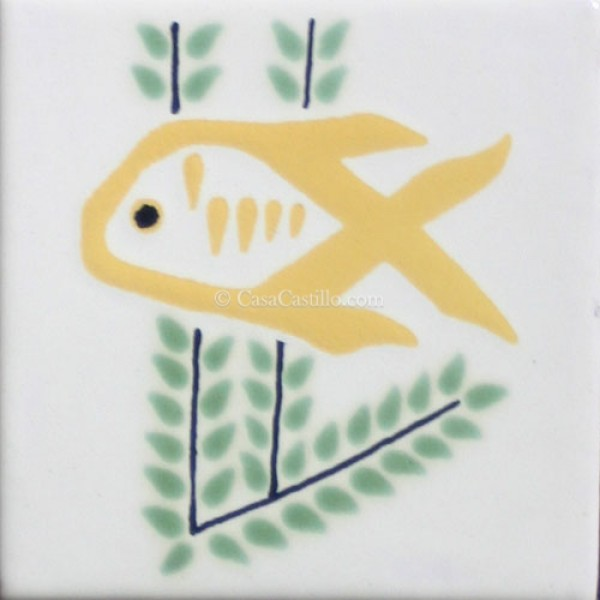 Mexican Talavera Tiles Fish 6