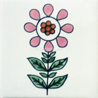 Mexican Talavera Tiles Flowers 17
