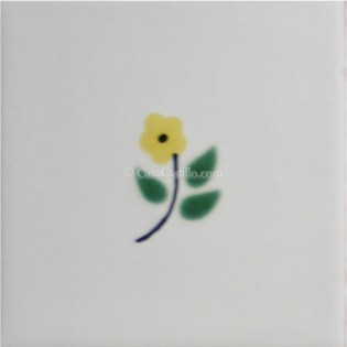 Mexican Talavera Tiles Flowers 19
