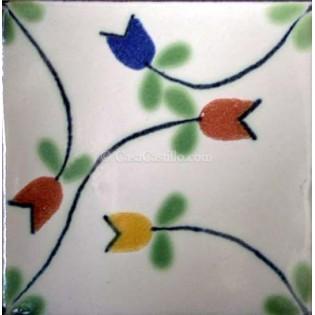 Ceramic Frost Proof Tiles Flowers 5