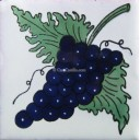 Mexican Talavera Tiles Grapes