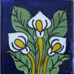 Ceramic Frost Proof Tiles Lilies 3