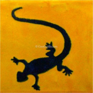 Mexican Talavera Tiles Lizard 3