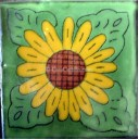 Ceramic Frost Proof Tiles Sunflower 2