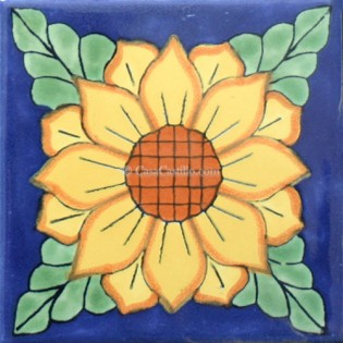 Ceramic Frost Proof Tiles Sunflower 4