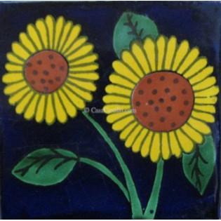 Ceramic Frost Proof Tiles Sunflower 8