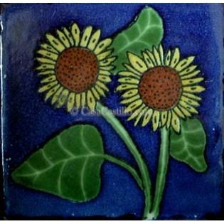 Ceramic Frost Proof Tiles Sunflower 9