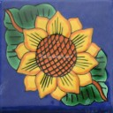 Mexican Talavera Tiles Sunflower 1