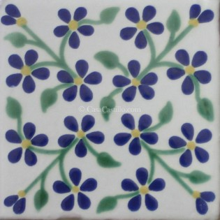 Ceramic Frost Proof Tiles Violets 1
