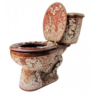 "Talavera Toilet Set ""Acapulco Chocolate"""