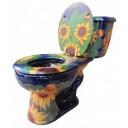 Mexican Talavera Toilet Girasoles