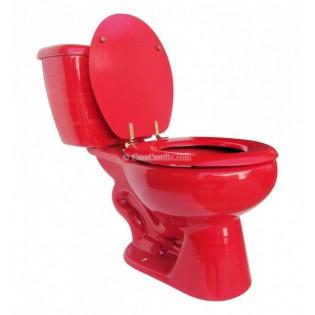 """Talavera Toilet Set """"Rojo"""""""