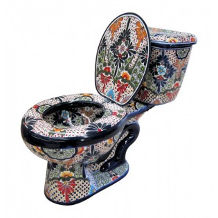 "Talavera Toilet Set ""San Miguel"""