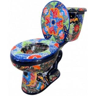 """Talavera Toilet Set """"Abundancia"""""""