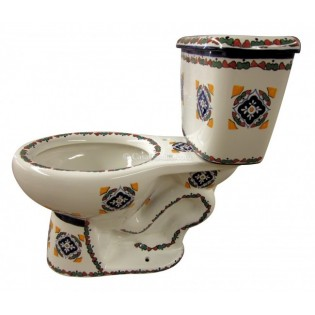 "Talavera Toilet Set ""Guadalajara"""