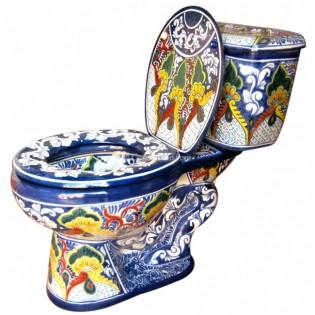 "Talavera Toilet Set ""Puebla"""