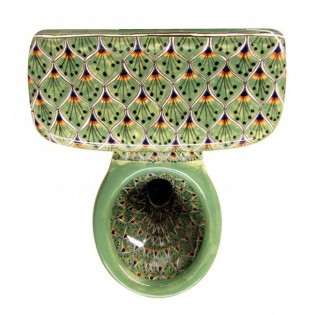 Talavera Toilet Set Pavo Real Verde