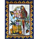 Mexican Talavera Mural Parrots1