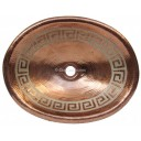 Copper Vessel Sink Oval Silver Greka